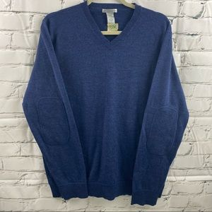 Gap Italian 100% Merino wool with elbow patches